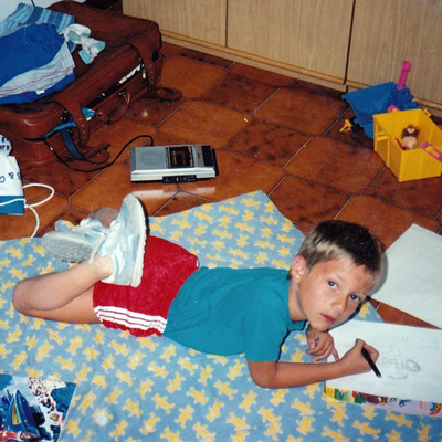 The artist at a young age